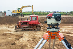 Theodolite on tripod Royalty Free Stock Image