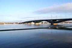 Theodor Heuss Brücke Mainz Stockbild