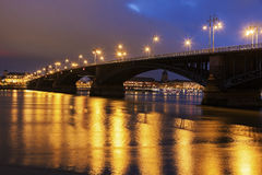 Theodor Heuss Bridge and Christuskirche Stock Photography