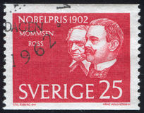 Theodor Mommsen und Sir Ronald Ross Stockbild
