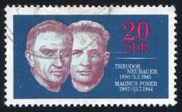 Theodor Neubauer i Magnus Poser obrazy stock