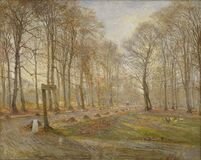Theodor Philipsen (1840-1920), Late Autumn Day in the Jægersborg Deer Park, North of Copenhagen, 1886. KMS1950 Royalty Free Stock Images