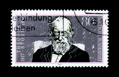 Theodor Storm, centenario di morte del serie di Theodor Storm, circa 198 Fotografie Stock