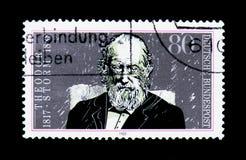Theodor Storm dödhundraårsdag av Theodor Storm serie, circa 198 Arkivfoton