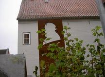 Theodor Storm in Husum stock afbeeldingen