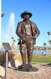 USA, Arizona/Fountain Hills: Theodore Roosevelt Sculpture. This sculpture of Theodore Roosevelt, the 26th president of the United States, adorns the Center Park Stock Photo
