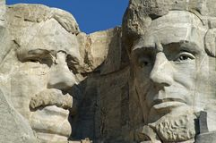 Theodore Roosevelt and Abraham Lincoln Royalty Free Stock Images