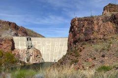 Theodore Roosevelt Dam, Arizona, USA. The Theodore Roosevelt Dam is a dam on the Salt River and Tonto Creek located northeast of Phoenix, Arizona, USA Stock Images