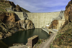 Theodore Roosevelt Dam. The Theodore Roosevelt Dam, located on the Salt River, northeast of Phoenix, Arizona in the Tonto National Forest. This hydroelectric dam Royalty Free Stock Photos