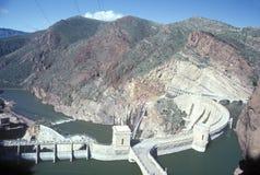 Theodore Roosevelt Dam at Theodore Roosevelt Lake, AZ Stock Images