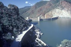 Theodore Roosevelt Dam at Theodore Roosevelt Lake, AZ Royalty Free Stock Image