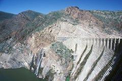 Theodore Roosevelt Dam at Theodore Roosevelt Lake, AZ Stock Photos