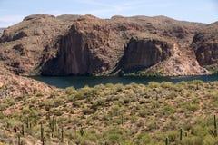 Theodore Roosevelt Lake Arizona, USA arkivfoto