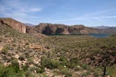 Theodore Roosevelt Lake, Arizona, USA Royalty Free Stock Photos