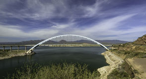 Theodore Roosevelt Lake Bridge stockfotografie