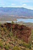Theodore Roosevelt Lake, Gila County, Arizona. Scenic landscape view of Theodore Roosevelt Lake in Gila County, Arizona Stock Photography