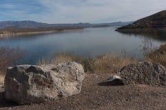 Theodore Roosevelt Lake in southeastern Arizona. Royalty Free Stock Image