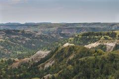 Theodore Roosevelt National Park, calanchi del nord del Nord Dakota dell'unità Fotografia Stock