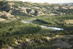 Theodore Roosevelt National Park - courbure d'Oxbow Photo stock