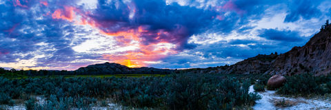 Theodore Roosevelt National Park Landscapes. Various landscapes of Theodore Roosevelt National Park in North Dakota royalty free stock photo