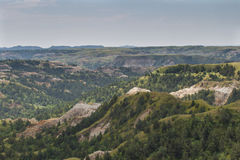 Theodore Roosevelt National Park norr enhetsNorth Dakota Badlands Arkivbild