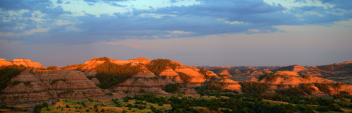 Theodore Roosevelt National Park Sunset. At Boicourt Point Overlook. North Dakota in America or the United States is a popular travel destination for people on royalty free stock image