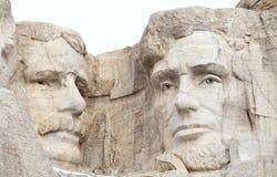 Theodore Roosevelt och Abraham Lincoln på Mount Rushmore royaltyfria foton