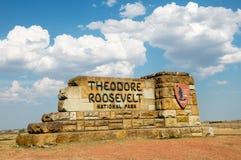 Theodore Roosevelt parka narodowego północ Dakota fotografia royalty free