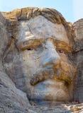 Theodore Roosevelt schnitzte auf dem Mount Rushmore Stockfotografie
