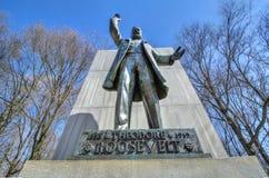 Theodore Roosevelt statua przy Theodore Roosevelt wyspą Obrazy Royalty Free