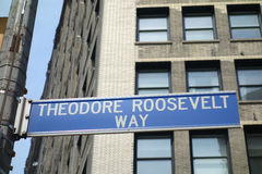 Theodore Roosevelt Way Stock Images