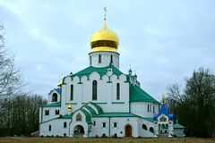 Theodore sovereign's Cathedral in Pushkin Stock Photo
