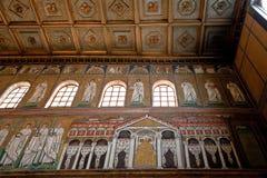 Theodoric宫殿的马赛克在Sant Apollinare Nuovo 免版税库存图片