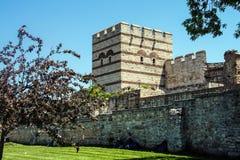 Theodosian Land walls of the Byzantine Empire Stock Photography