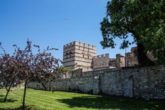 Theodosian Land walls of the Byzantine Empire Royalty Free Stock Photo