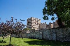 Theodosian Land walls of the Byzantine Empire Royalty Free Stock Photo