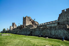 Theodosian Land walls of the Byzantine Empire Royalty Free Stock Images