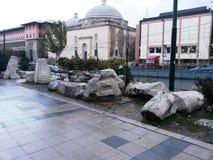 Theodosius Triomphe de sista återstående styckena av byzantinen Arkivbilder