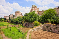 Theodosius Walls in Istanbul Royalty Free Stock Images