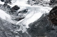 Theodul glacier in Swiss Alps, Zermatt, Switzerland stock photo