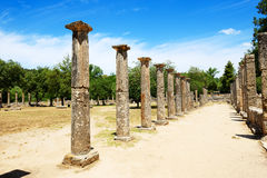 Theokoleon ruins in ancient Olympia Stock Image