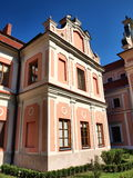 Theological seminary, Sandomierz, Poland. St. Michael's Church and the old Benedictine nuns monastery were founded in the 17th century by Zofia stock image