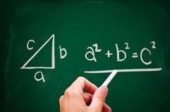 Theorem pitagórico Imagem de Stock Royalty Free