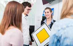Theoretical lessons in driving school Royalty Free Stock Images
