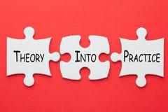 Theorie in Praktijkconcept royalty-vrije stock afbeeldingen