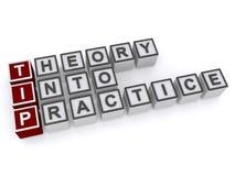 Theorie in Praxis Lizenzfreies Stockfoto