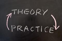 Theorie und Praxis lizenzfreies stockbild