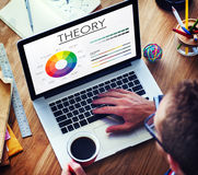 Theory Graphic Chart Color Scheme Concept Stock Photo