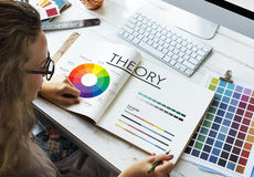 Theory Graphic Chart Color Scheme Concept Stock Images
