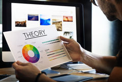 Theory Graphic Chart Color Scheme Concept. Theory Graphic Chart Color Concept royalty free stock photography